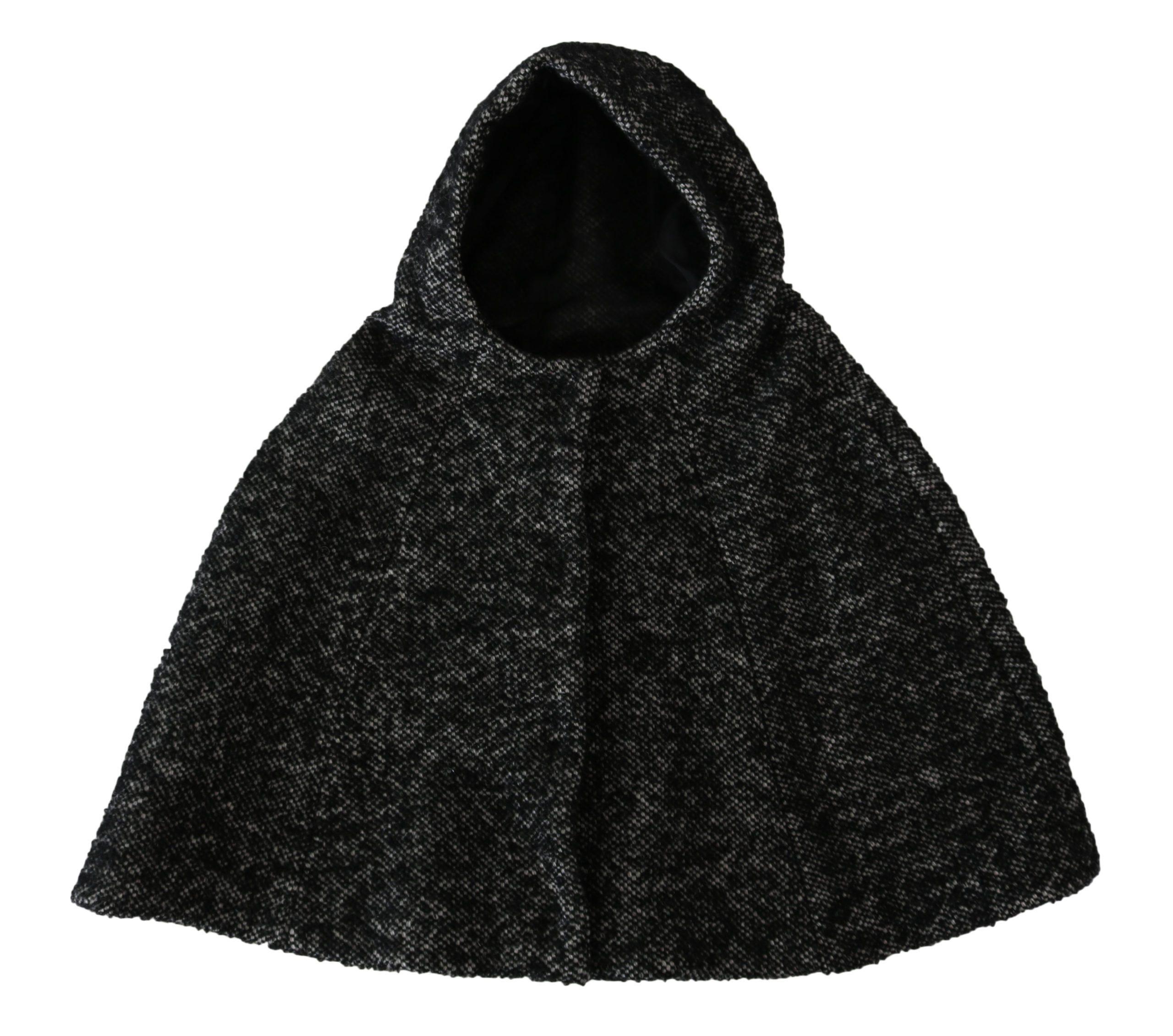 Dolce & Gabbana Women's Tweet Wool Shoulder Hooded Hat Gray TSH4233 - 57 cm|S