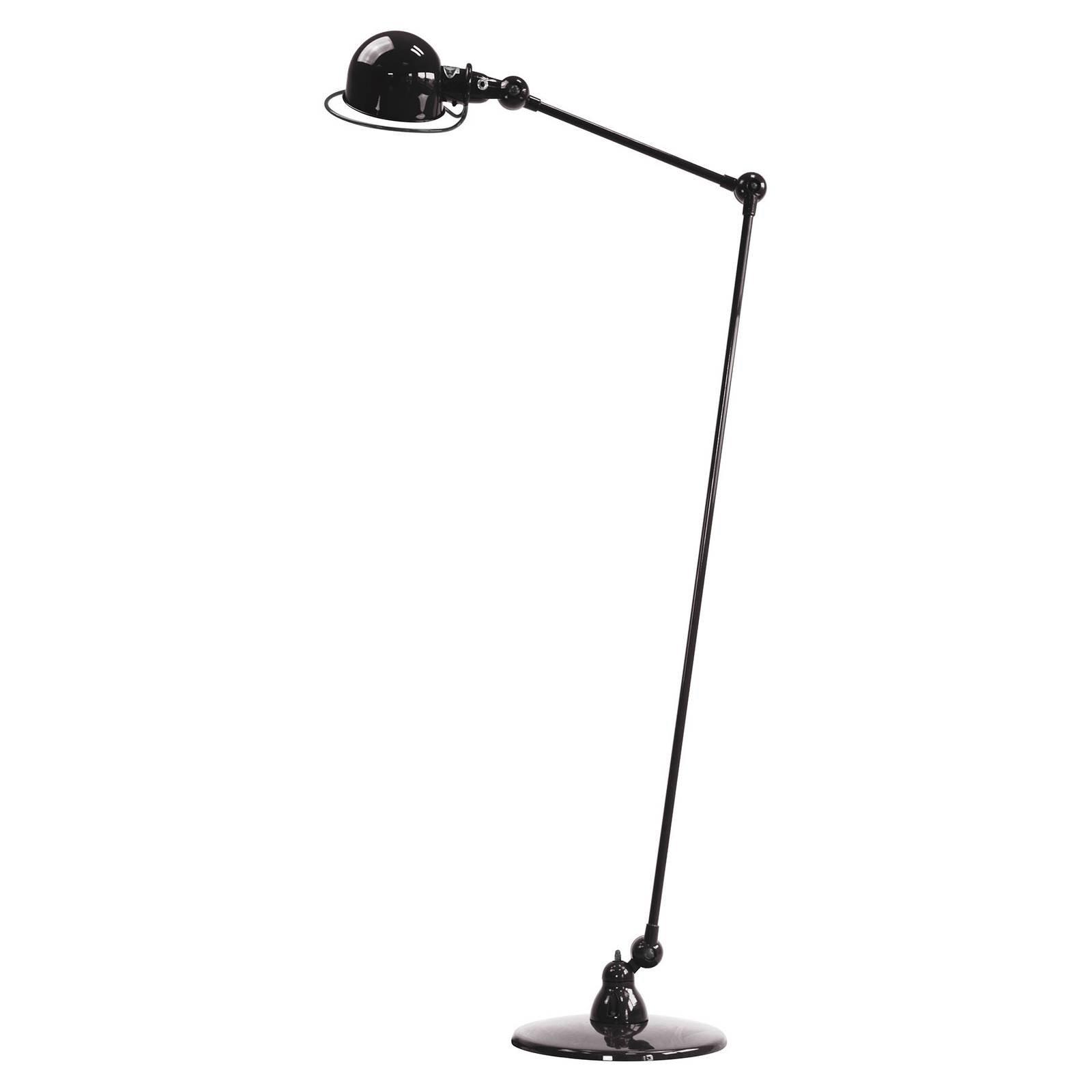 Jieldé Loft D1240 gulvlampe med leddarm, svart