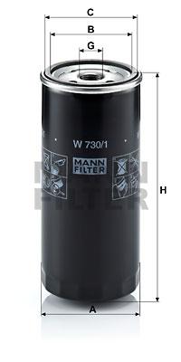 Öljynsuodatin MANN-FILTER W 730/1