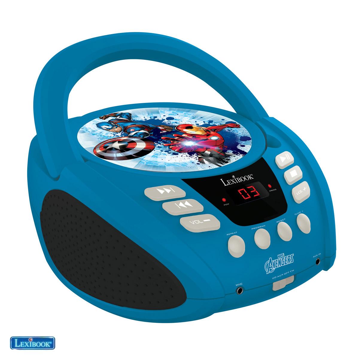 Lexibook - The Avengers Portable CD player with Mic Jack (RCD108AV)