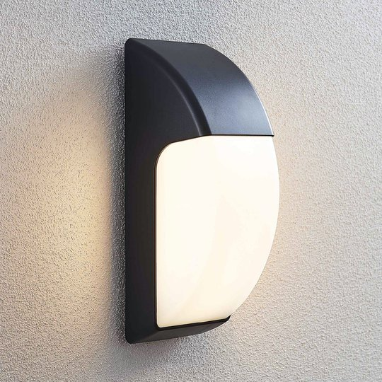 LED-ulkoseinälamppu Alecia, IP65, tummanharmaa