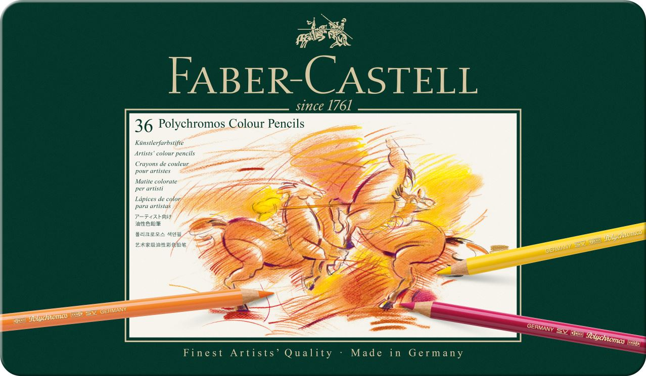 Faber-Castell - Polychromos colour pencil, tin of 36 (110036)