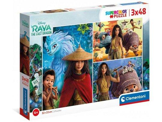 Disney Raya Puslespill 3x48 Biter