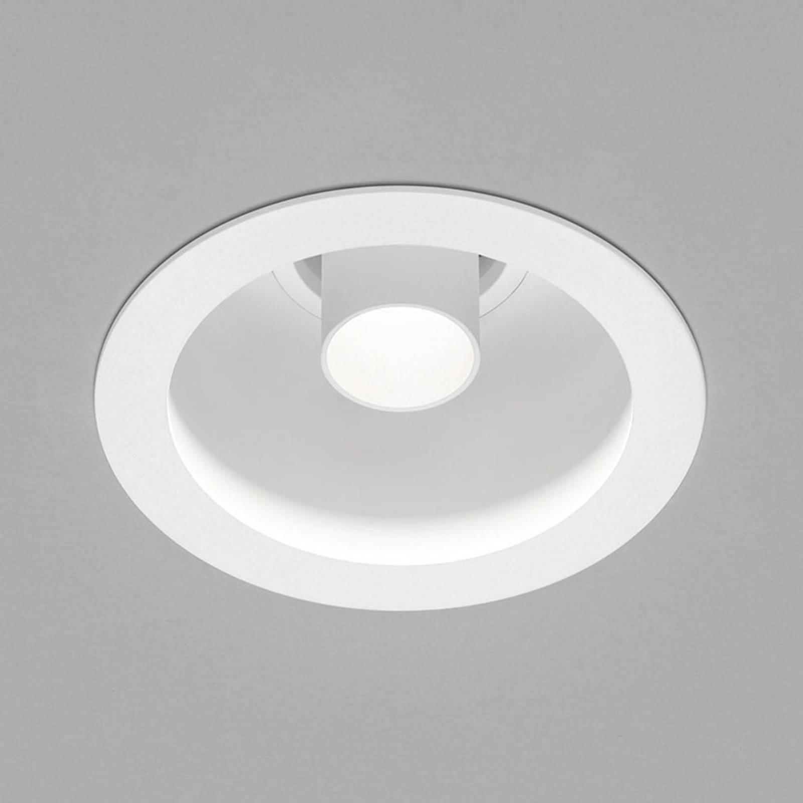 Helestra Run LED-innfel.spot, 1 lyskilde hvit/hvit