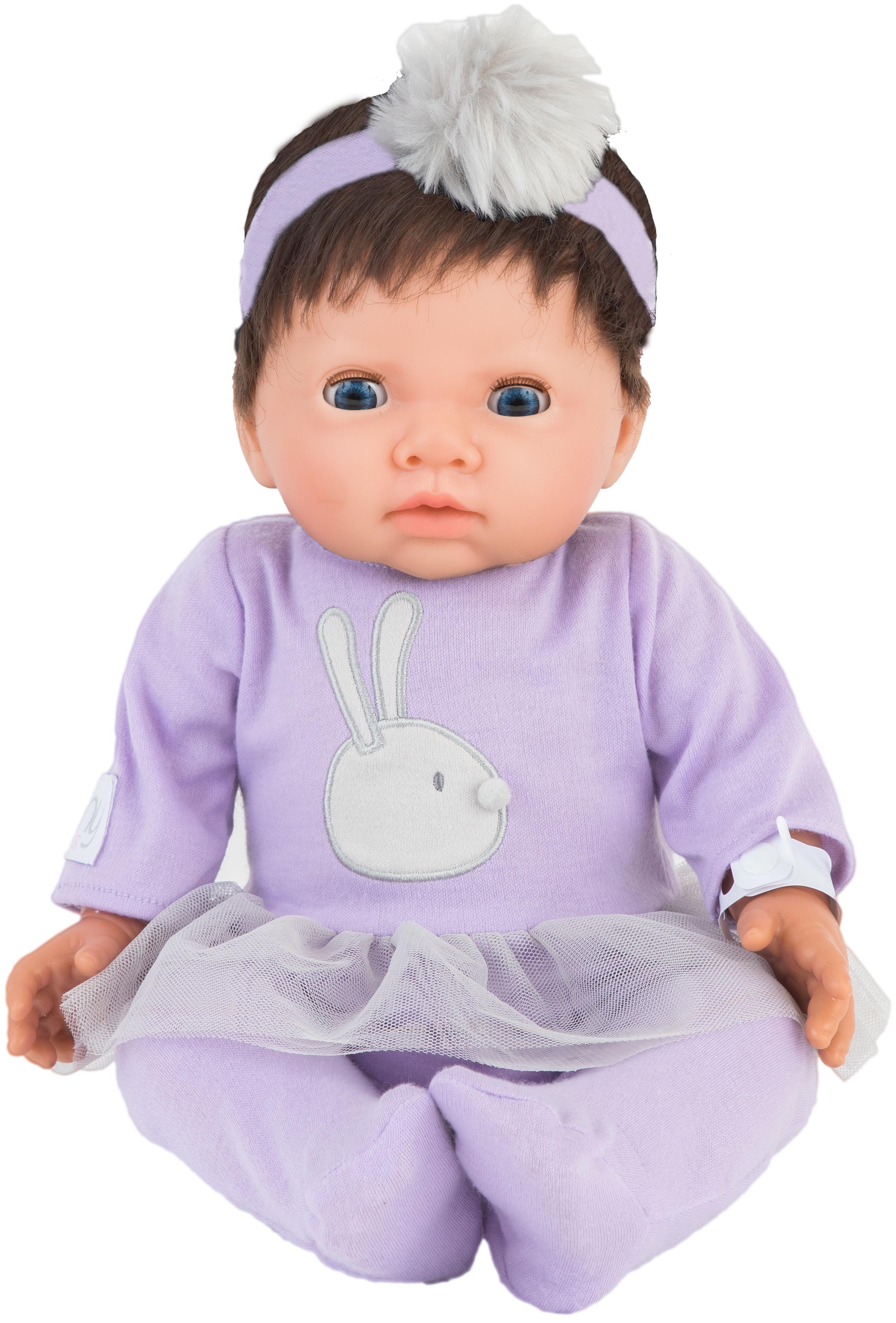 Tiny Treasure - Doll w/ Brown Hair & Purple Tutu Dress (30140)
