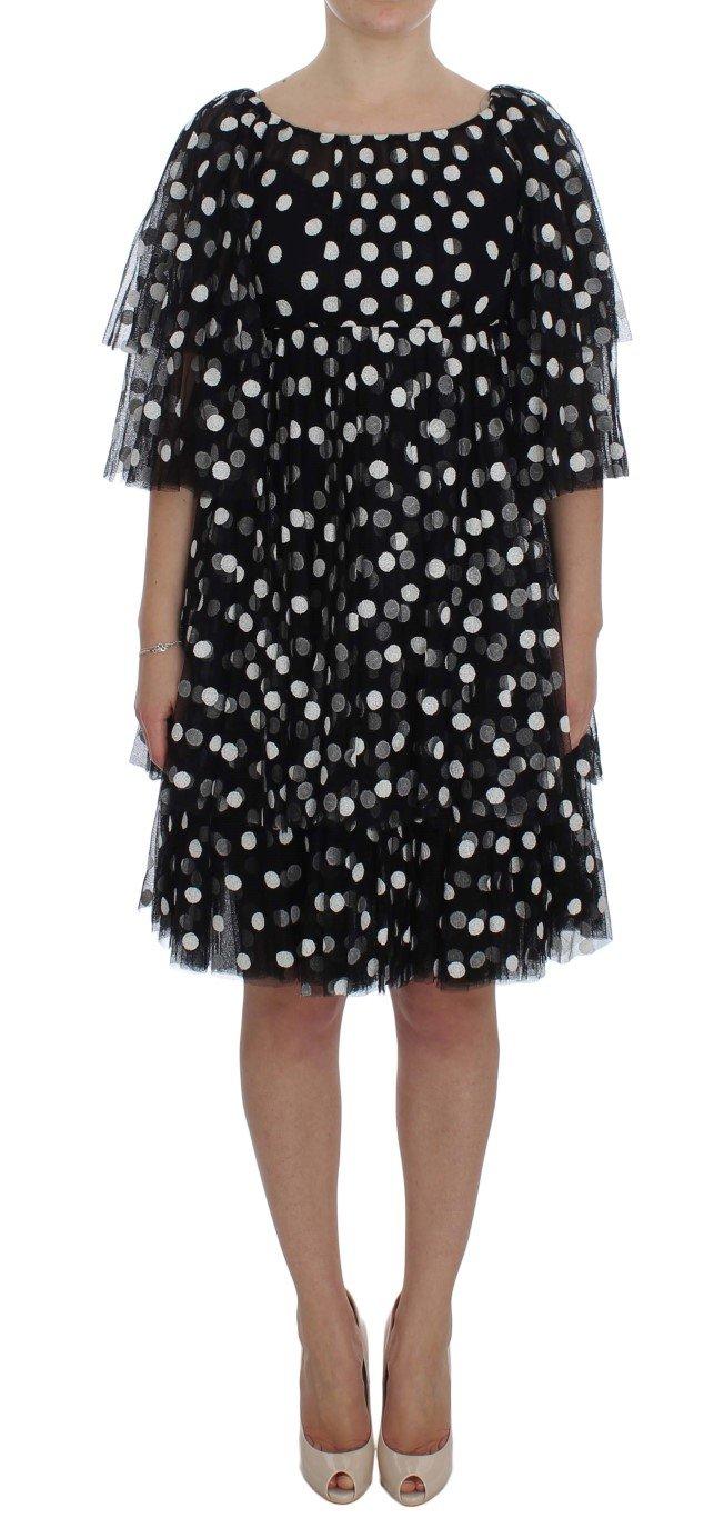 Dolce & Gabbana Women's Polka Dotted Ruffled Dress Black NOC10160 - IT40|S