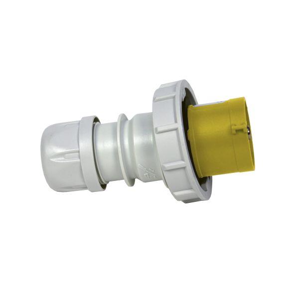 Garo PV 216-4 S Pistotulppa IP67, 3-napainen, 16A 110 V, keltainen, 4 h