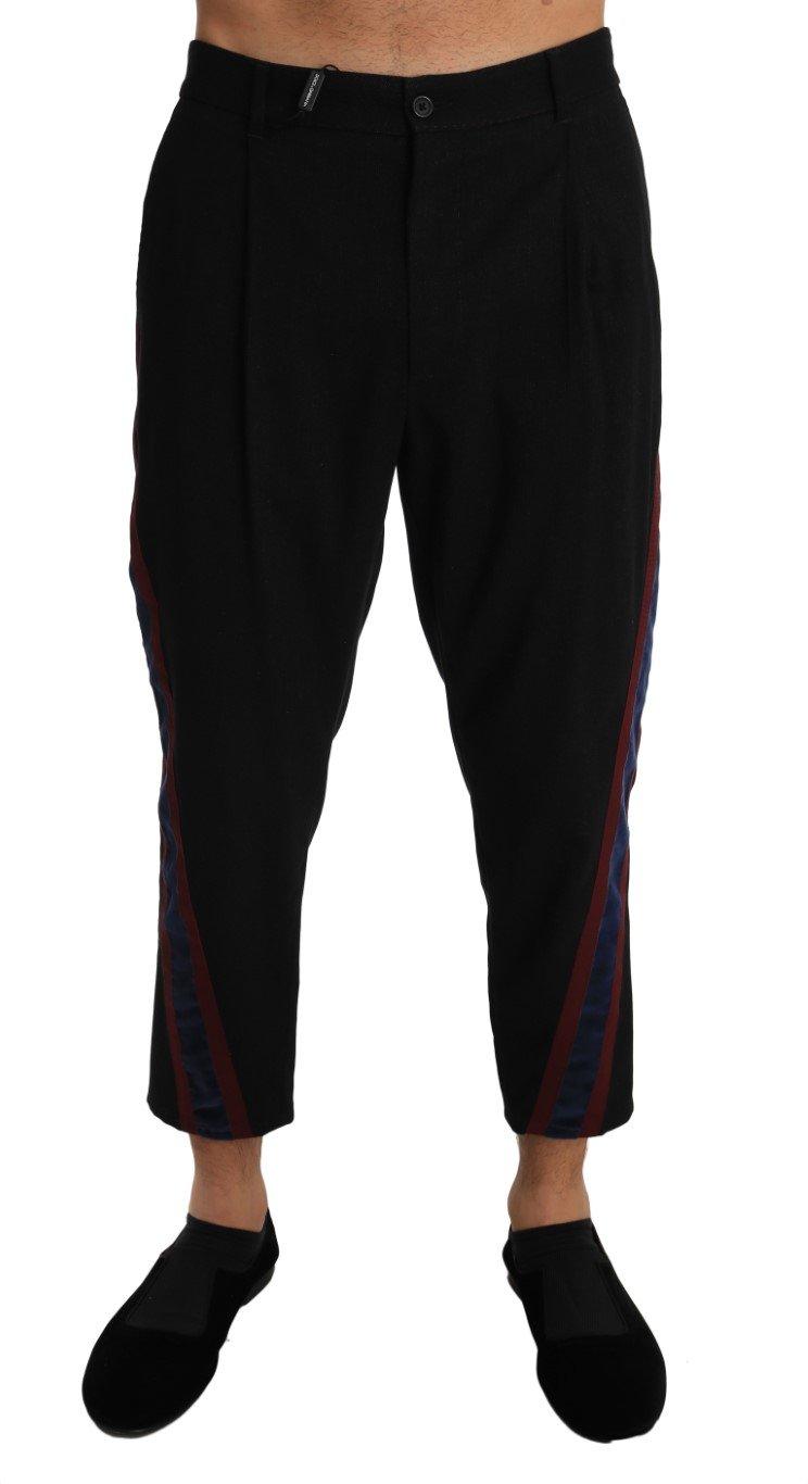 Dolce & Gabbana Men's Cotton Stripe Stretch Trouser Black PAN60912 - W34