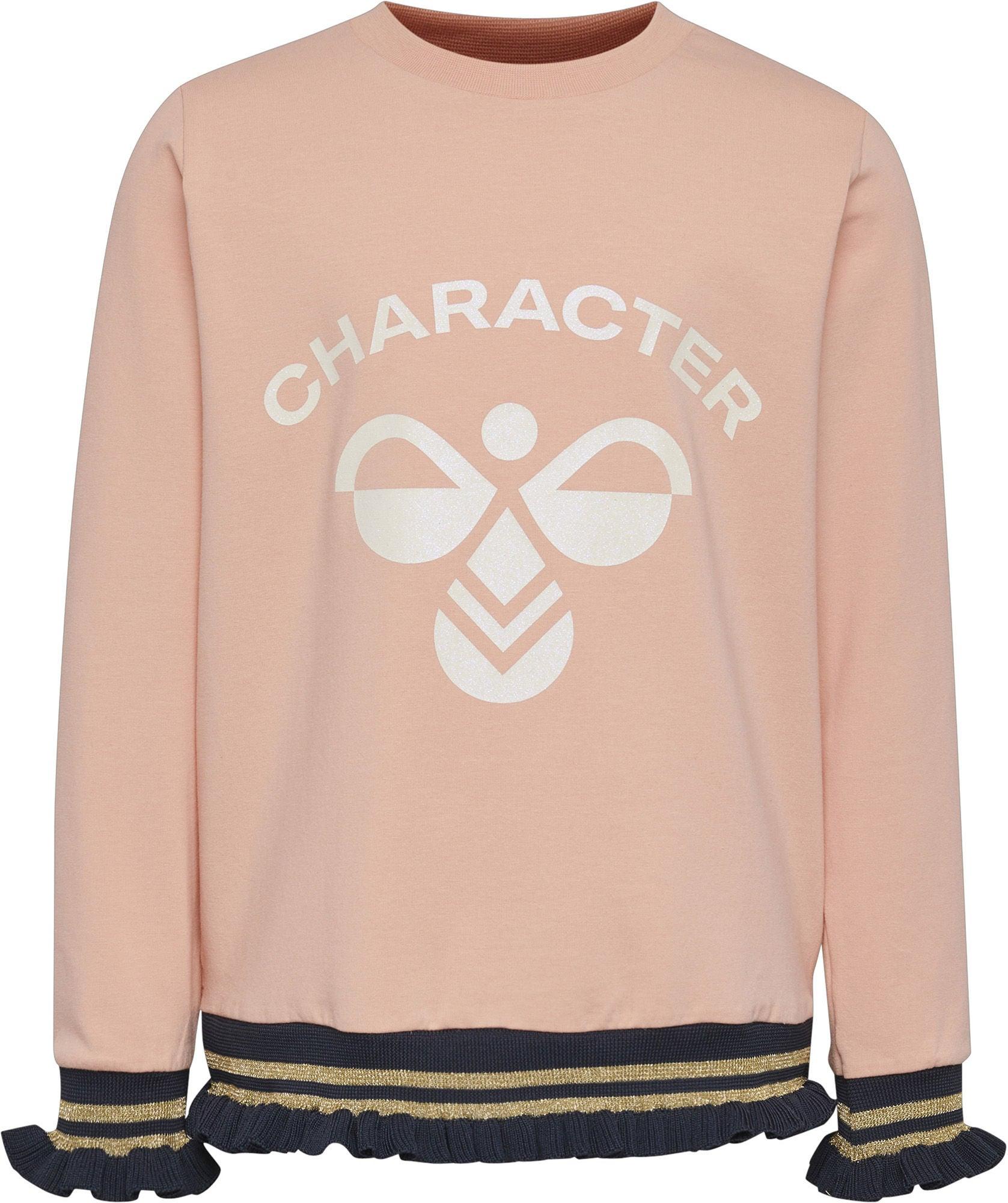 Hummel Bette Långärmad T-Shirt, Coral Pink, 104