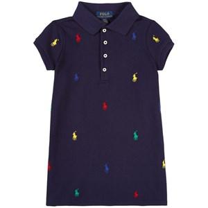 Ralph Lauren Logo Pikéklänning Marinblå 2 år