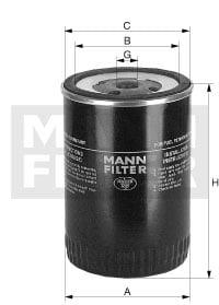 Polttoainesuodatin MANN-FILTER WDK 962/12