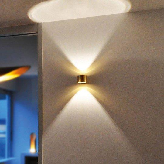 BANKAMP Impulse LED-vegglampe up/down gull