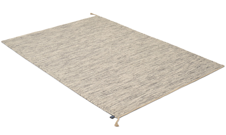 Sofiero svart/hvit - håndvevd ullteppe