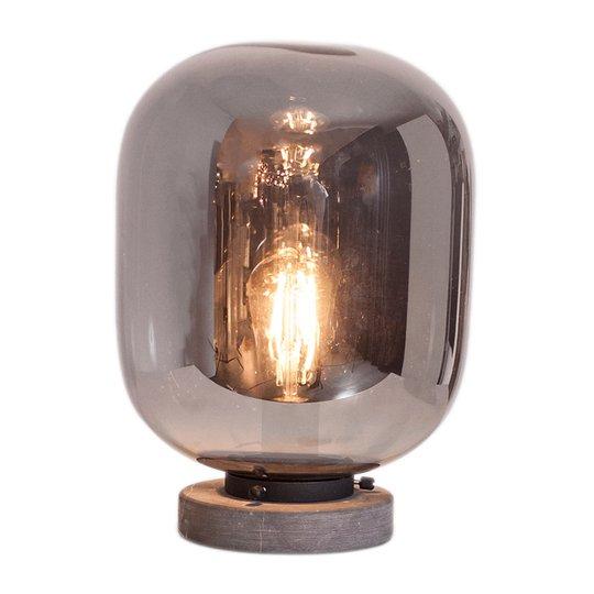 By Rydéns Leola -pöytälamppu, savunharmaa lasi