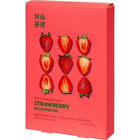 Pure Essence Mask Sheet Pack Strawberry, Holika Holika Kasvonaamiot
