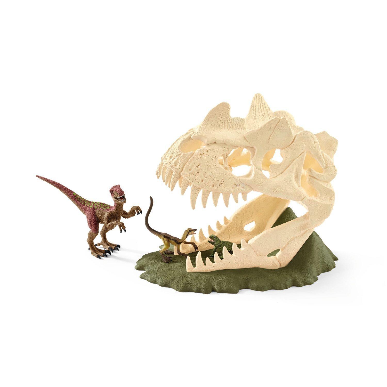 Schleich - Dinosaurs Skull Trap With Velociraptor (42348)