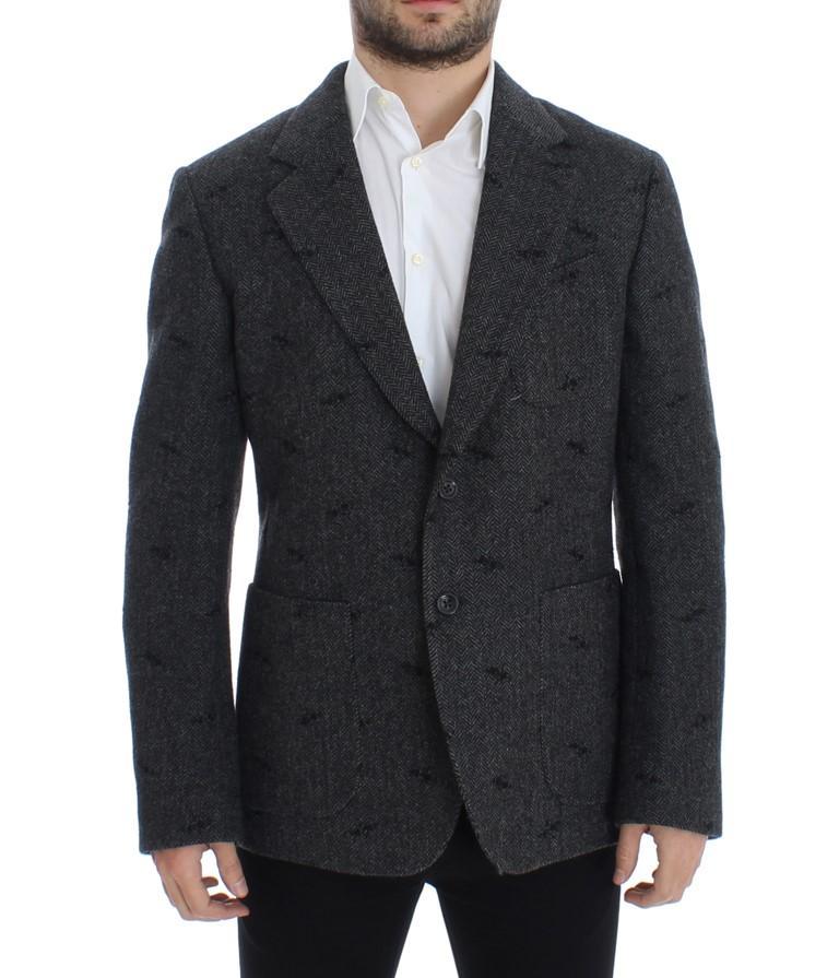 Dolce & Gabbana Men's wool two button Blazer Gray SIG12236 - IT48 | M