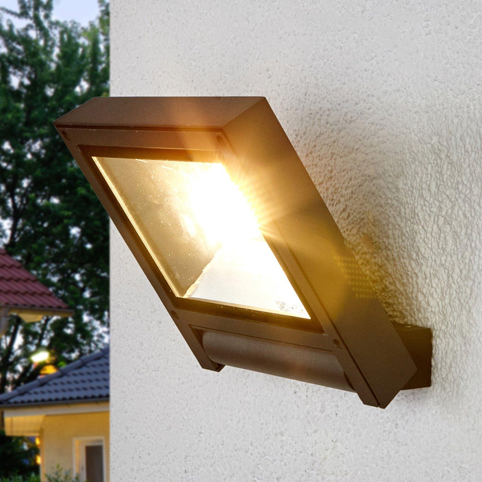 Mørkegrå LED-spotlys Maico til utendørs bruk
