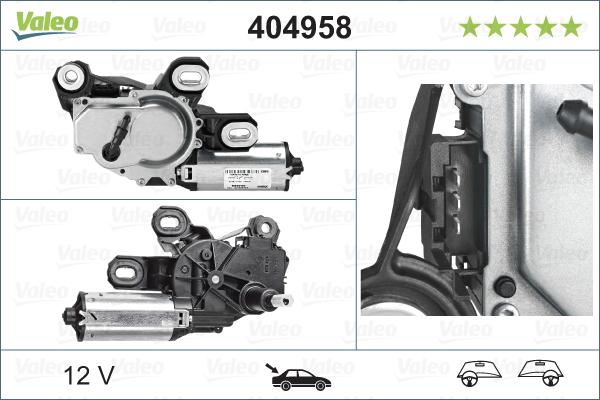 Pyyhkijän moottori VALEO 404958