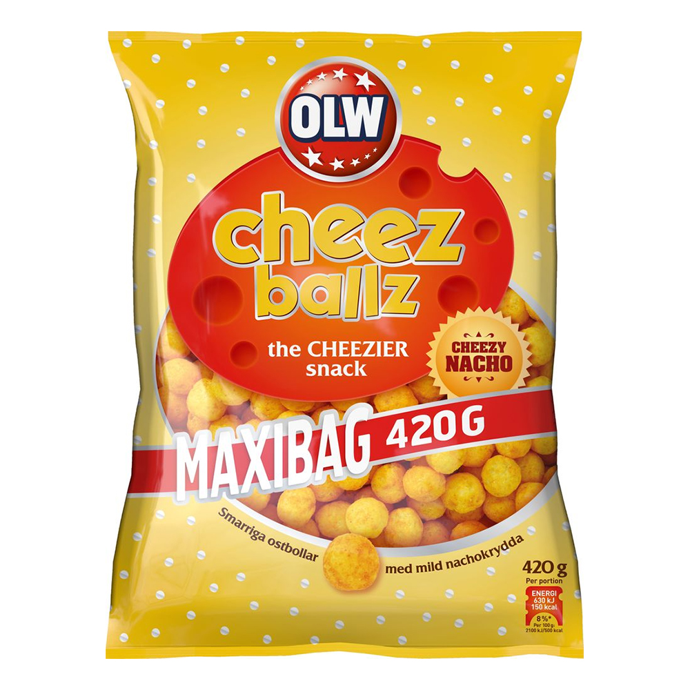 OLW Maxibag Cheez Balls - 420 gram