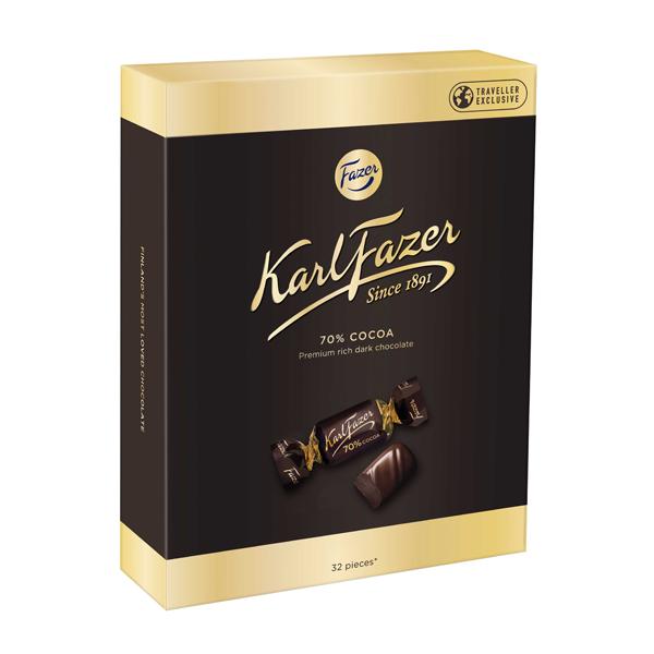 Karl Fazer Dark 70% Box 250g