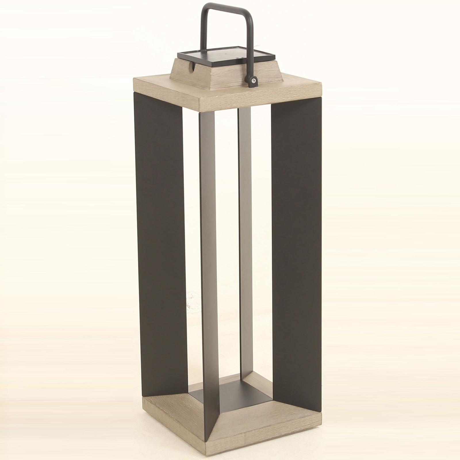 Aurinkokäyttöinen lyhty Teckalu, musta, 65,5cm