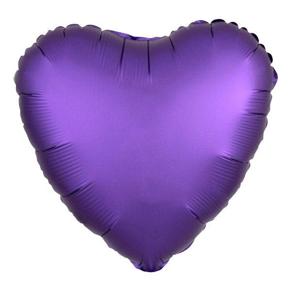 Folieballong Hjärta Satin Lila