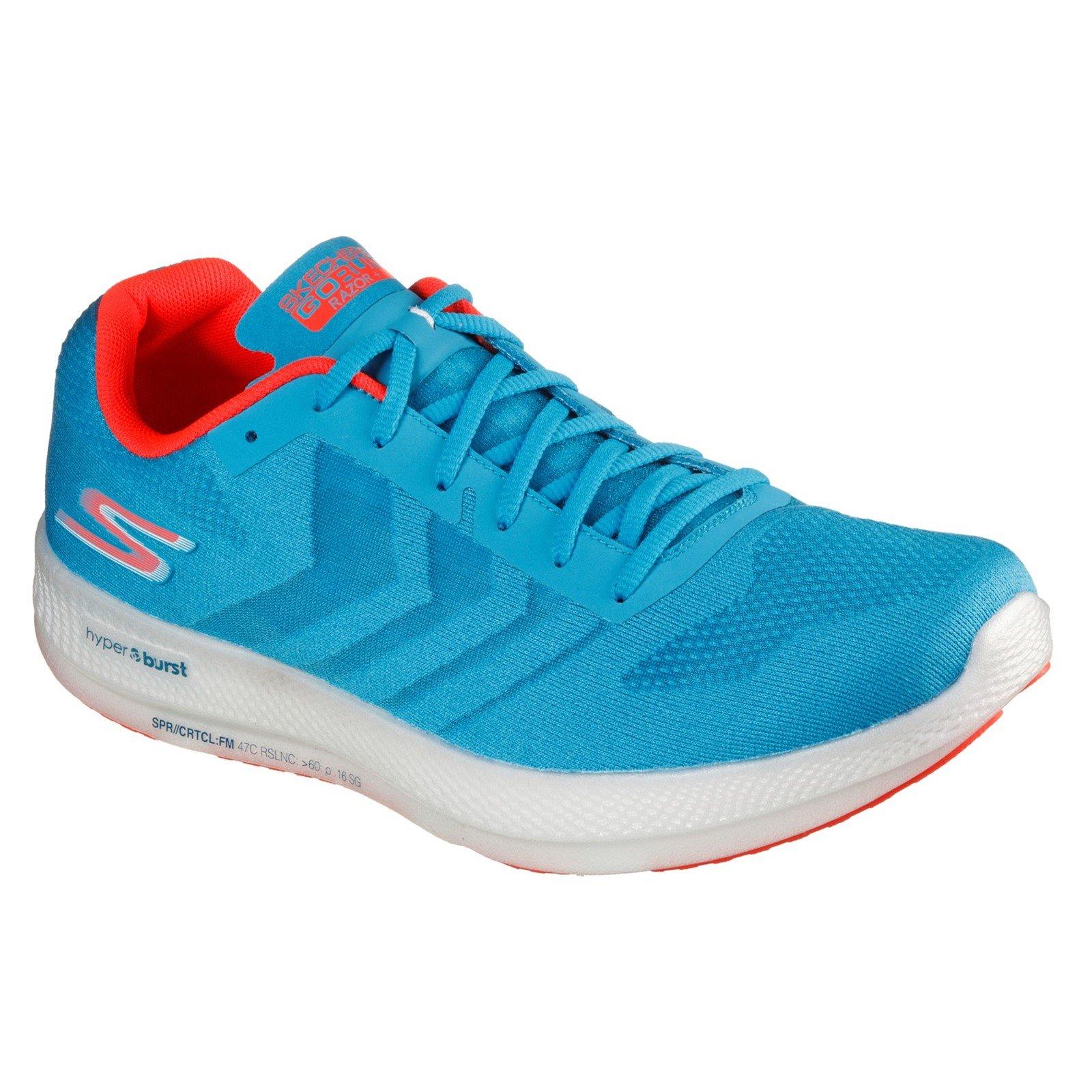 Skechers Men's Go Run Razor Trainer Multicolor 32699 - Blue/Coral 7