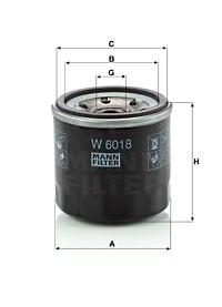 Öljynsuodatin MANN-FILTER W 6018