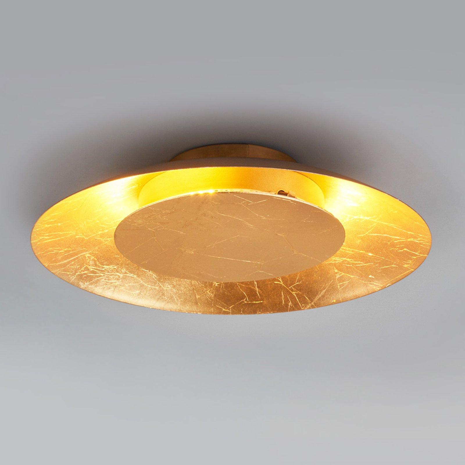 LED-taklampe Keti i gull-optikk, Ø 34,5 cm