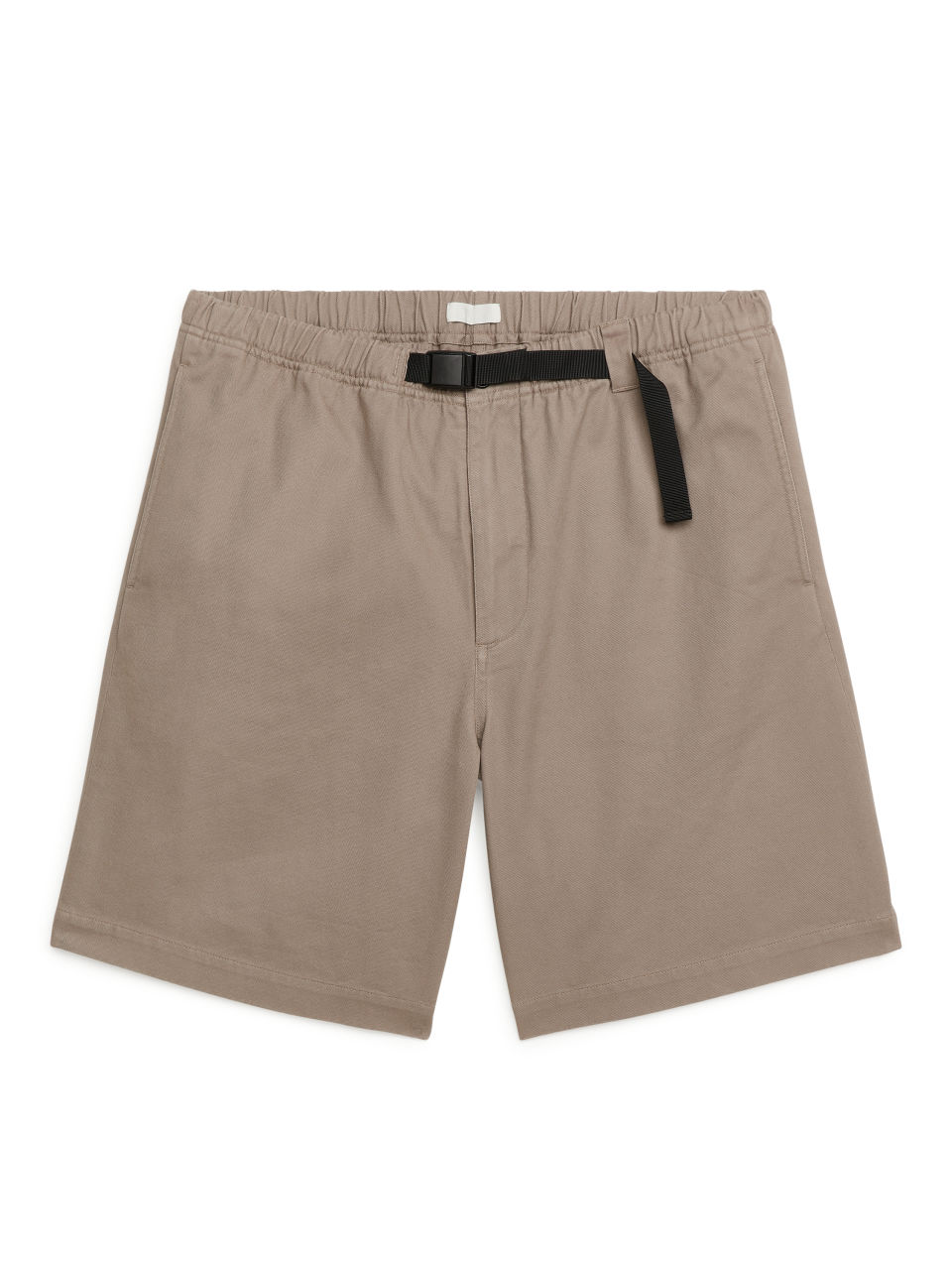 Strap-Detail Cotton Twill Shorts - Brown