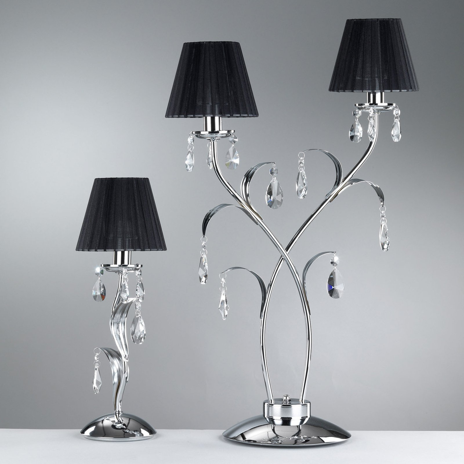 Bordlampe Jacqueline, 2 lyskilder, svart