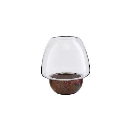 Lysestake 'Tyngdekraft' Jern / Glass