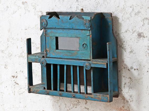 Decorative Blue Wall Cabinet Blue