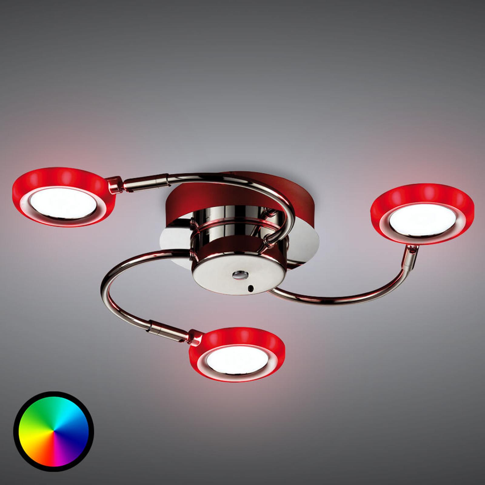 LED-kattolamppu Turner, 3-lamppuinen
