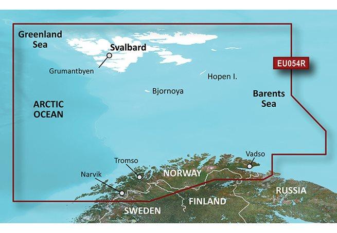 Garmin Vestfjord-Svalbard-Varanger Garmin VEU054R - BlueChart g3 Vision mSD/SD