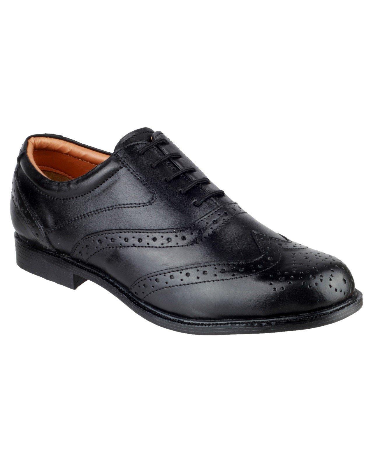 Amblers Men's Liverpool Oxford Brogue Black 11762 - Black 6