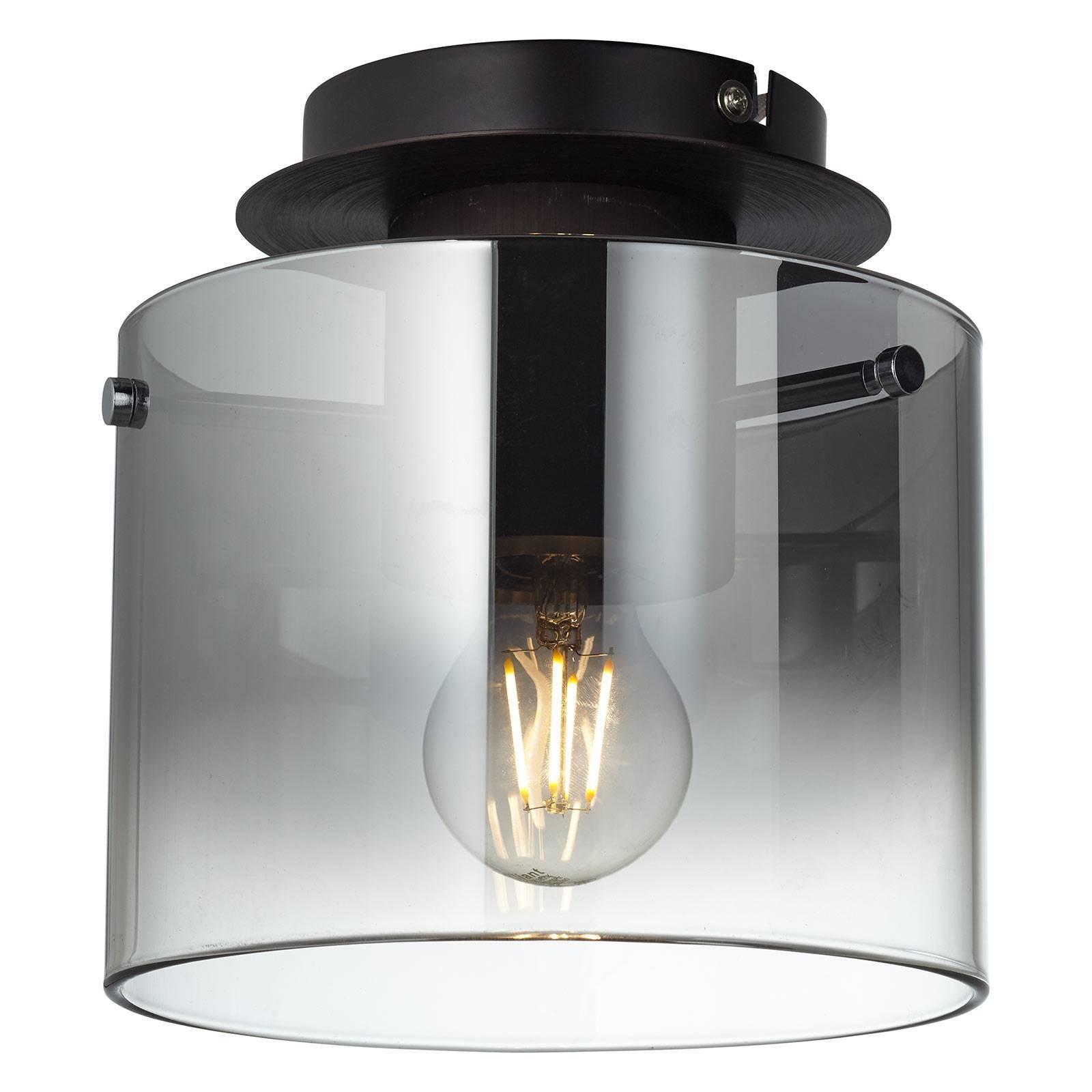 Beth taklampe med røykglassskjerm, 1 lyskilde