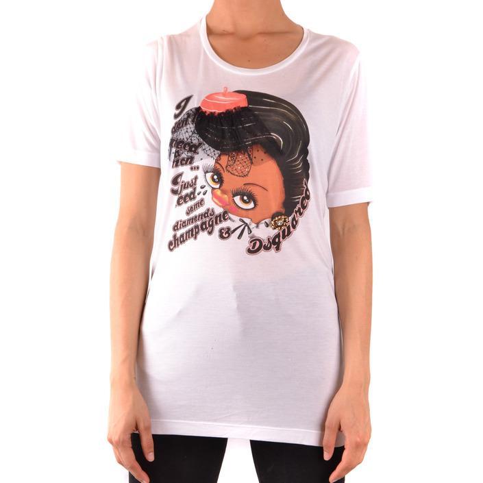 Dsquared Women's T-Shirt White 167483 - white M