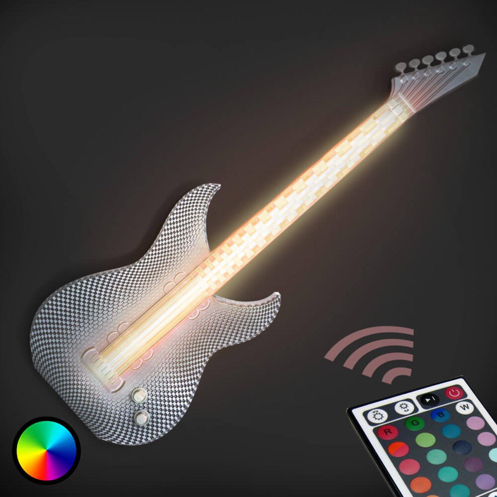Rockende LED-vegglampe gitar fra 3D-printer