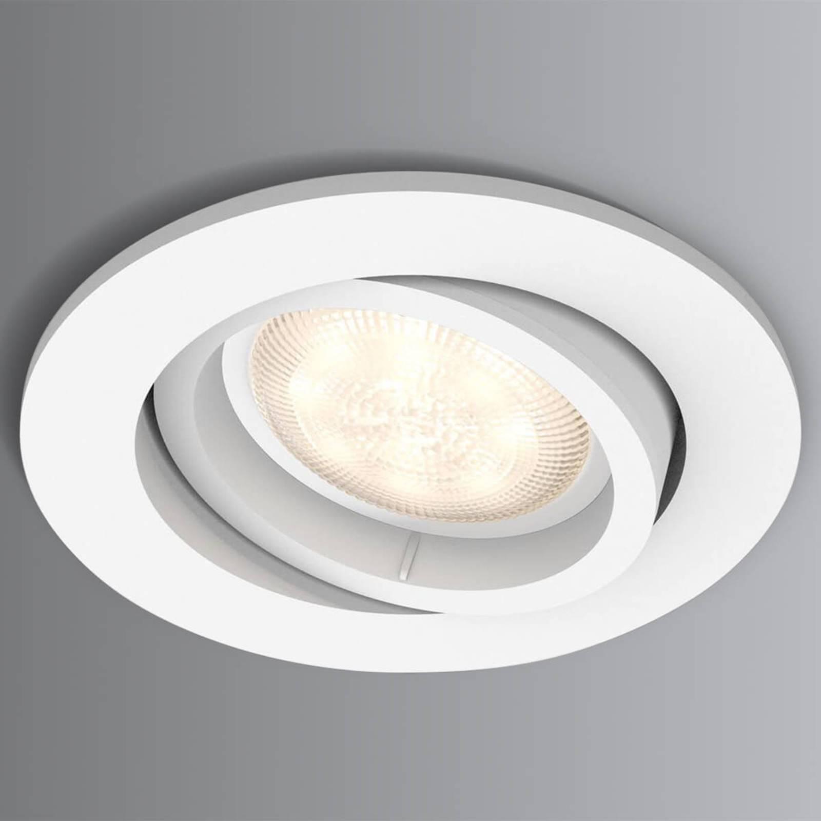LED-uppospotti Shellbark valkoinen WarmGlow