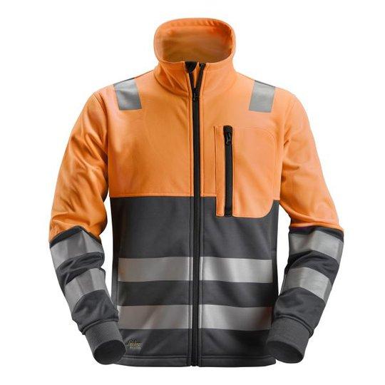 Snickers 8035 AllroundWork Fleecetakki heijastimet, oranssi XS
