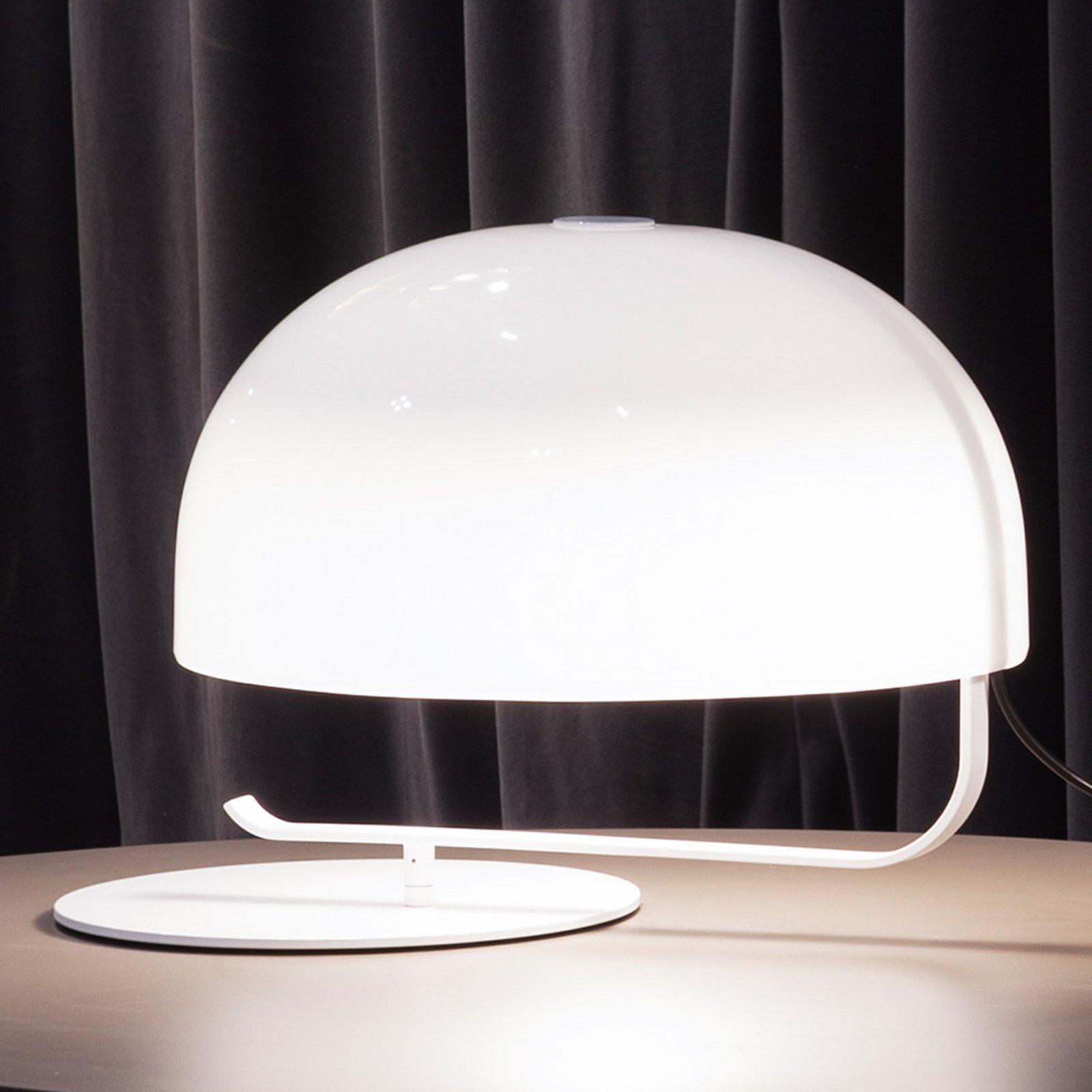 Oluce Zanuso - retro bordlampe i hvit