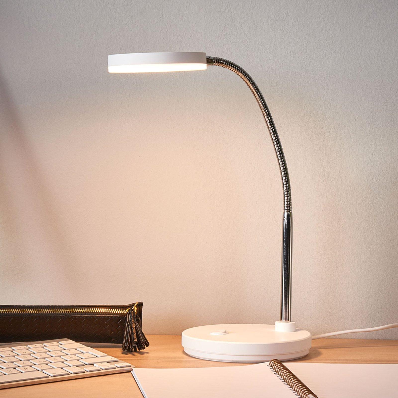 Milow hvit LED-skrivebordslampe