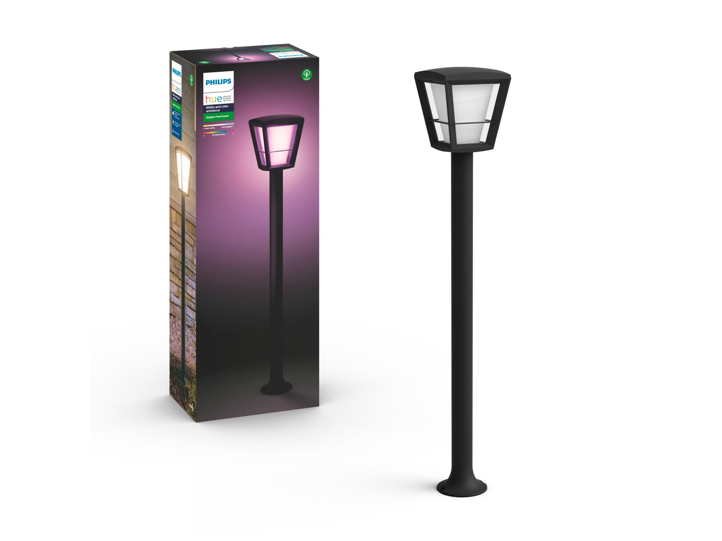 Philips Hue - Econic Post Outdoor - White & Color Ambiance