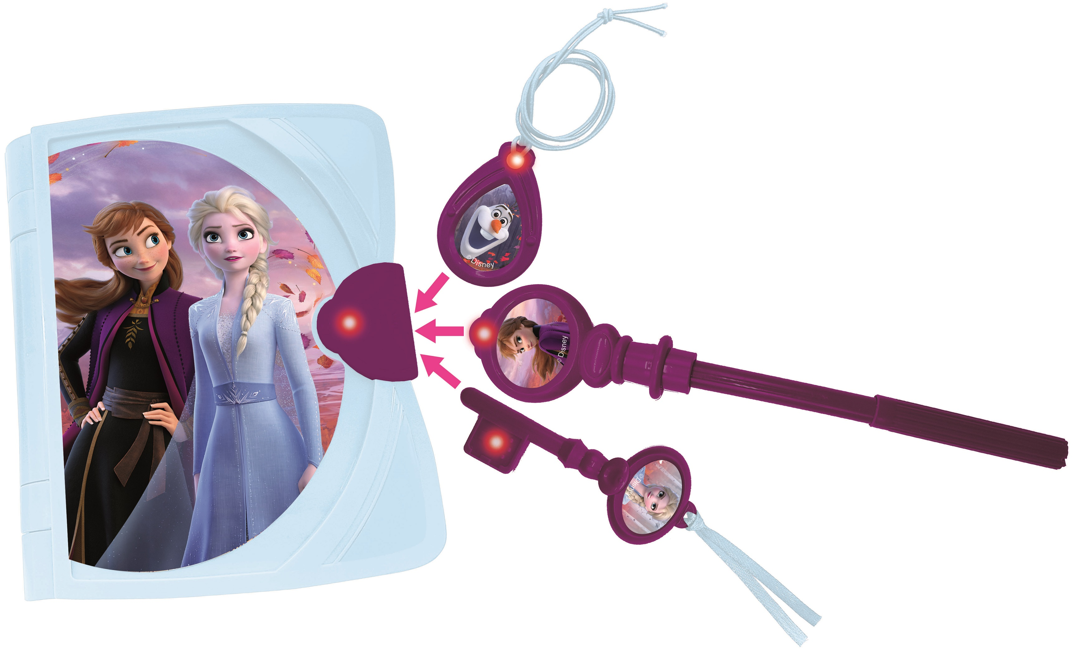 Lexibook - Disney Frozen Electronic Secret Diary with light, sound and accessories (SD15FZ)