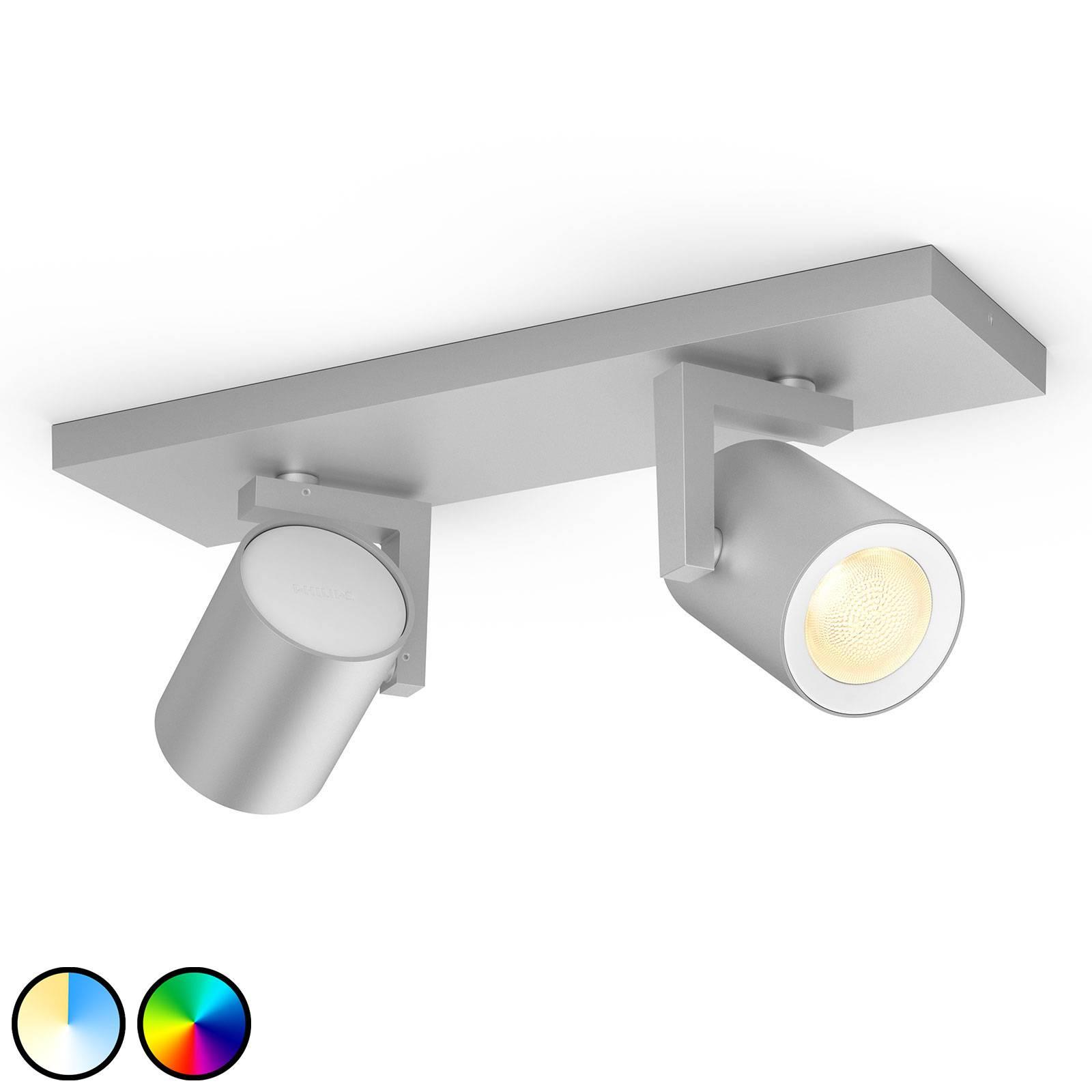 Philips Hue Argenta -LED-spotti, 2-lamp., alu