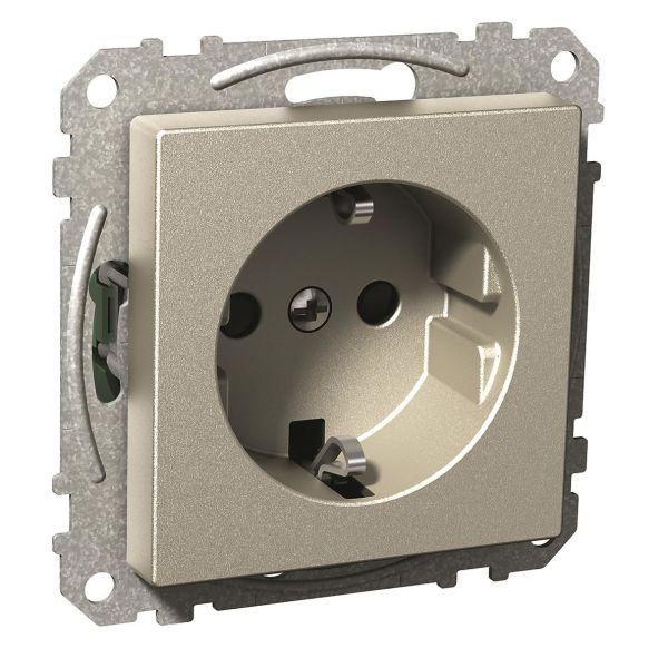 Schneider Electric Exxact Seinäpistorasia 1-toiminen Metalli, ruuviliitin