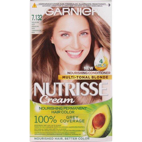 Garnier Nutrisse Cream 7.132 Nude Dark Blonde, Garnier Hiusvärit