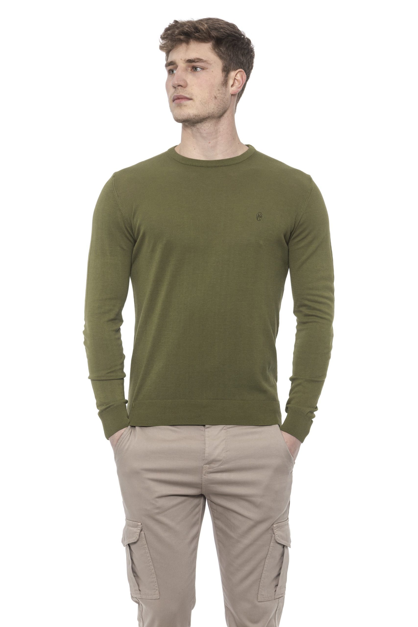 Conte of Florence Men's Sweater Green CO1376434 - S